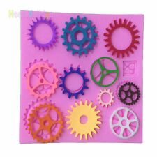 Gear Silicone Fondant Mold Cake Decorating Chocolate Candy Baking Mould Tools