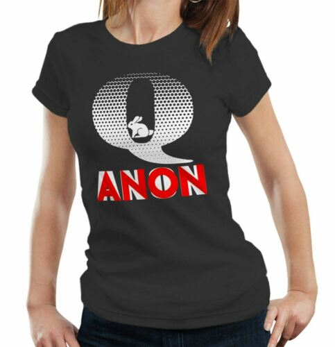 Government Plot Qanon Rabbit Tshirt Fitted Ladies Deep State Conspiracy