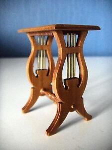 ... MEUBLE MINIATURE TABLE LYRE EN BOIS FABRICATION ARTISANALE