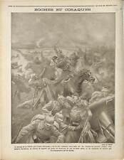 Bataille de la Vistule Battle of the Vistula River Warsaw Cossacks War 1914 WWI