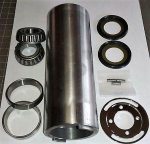 7-034-Long-Straight-Steel-Steering-Neck-w-Internal-Type-Fork-Stop-Races-Bearings