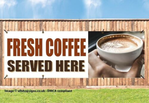 HOT DRINKS PVC BANNER OUTDOOR SIGN NC003 COFFEE ORDER CAFE COFFEE TAKEAWAY