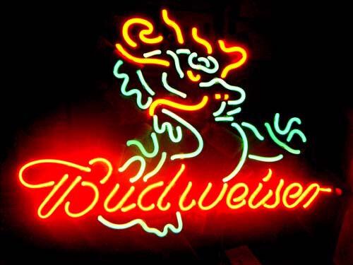 """17""""x14""""BUDWEISER DRACHE Neon Sign Bier Bar Nachtlicht Neonwerbung Handwerk Dekor"""