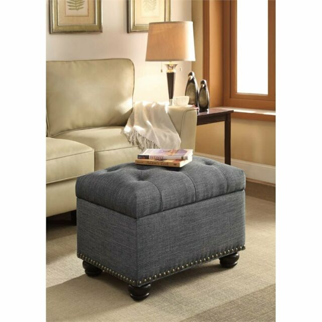 Pleasing Convenience Concepts Designs4Comfort Storage Ottoman In Gray Short Links Chair Design For Home Short Linksinfo