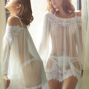 La imagen se está cargando mujer-sexy-picardias-Lenceria-Pijama- Ropa-interior-Vestido- 2f1e2e110d20