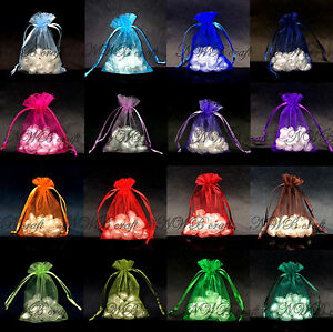 50-100-Organza-Sheer-Wedding-Party-Favour-XMAS-Gift-Bags-Candy-Jewellery-Pouch