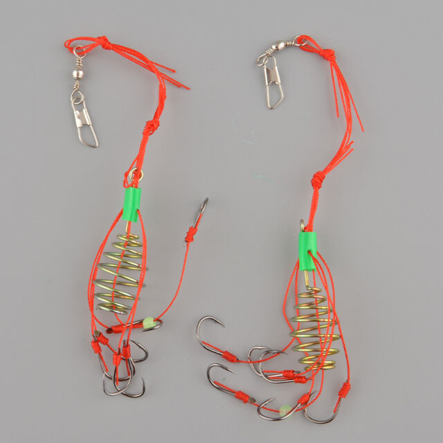 2pcs Fishing Hooks Explosion Sharp Fishhook With Box Tackle Tool Set Useful NEW