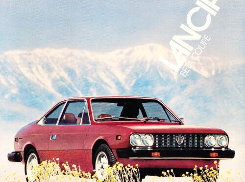 1976 1977 Lancia Beta Coupe Original Brochure Fact Sheet