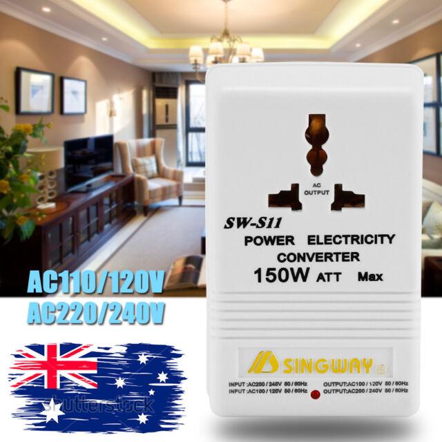 Universal Travel Adapter 150W 240V 110V Step Down & Up Voltage Converter AU