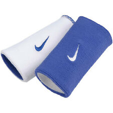 Nike Mens Unisex Tennis Reversible Wristbands Royal/White RF Federer Nadal NWT
