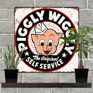 Piggly-Wiggly-Grocery-Self-Service-Home-Decor-Kitchen-Metal-Sign-12x12-034-60751