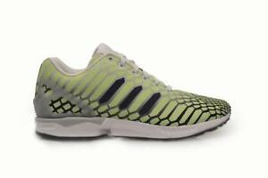 Details about Mens Adidas ZX Flux *RARE* Xeno Snake AQ4535 Yellow White Black Trainers