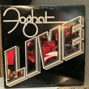 """FOGHAT - Live (BRK 6971) - 12"""" Vinyl Record LP - VG"""