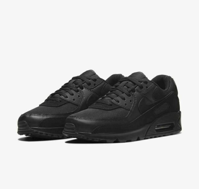 Nike Air Max 90 Triple Black Cn8490-003 Running Shoes Mens Size 12 Authentic