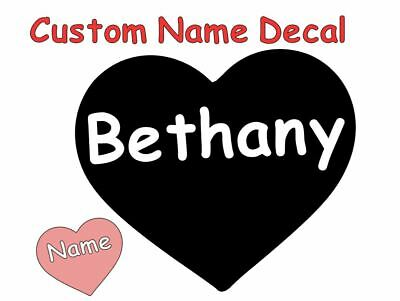 Personalize Vinyl Heart Name Decal Sticker For Tumbler Water Bottle Car Hydro
