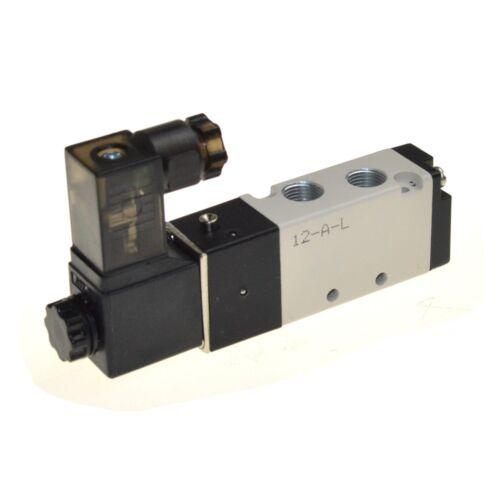 """Solenoid Air Valve 4V110-06 5 Port 2 Position 1//8/"""" BSP For Air Cylinder AC 220V"""