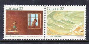 CANADA NO 979a (978-979), CANADIAN AUTHORS: LAURE CONAN, E.J. PRATT,  MINT NH