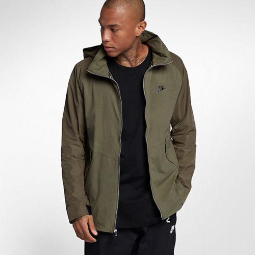9c95c86e54ae Nike Sportswear Air Max Jacket - Medium- 861598-222 Olive Army Black Hood  Hooded for sale online