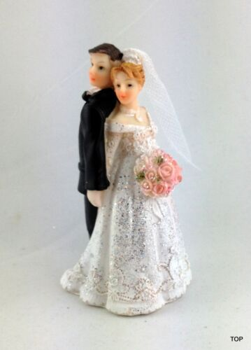 Details about  /Cake Topper Bridal Couple Figurine Wedding Cake 3 7//8in Cake Figure