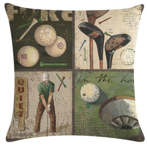 Funda de almohada motivo funda de almohada cojín golf-motive