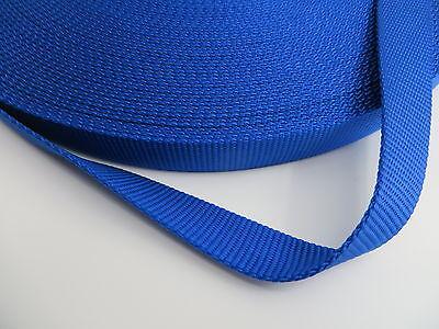 5,20Yards,1'' inch (25mm) Royal Blue Heavy Nylon webbing