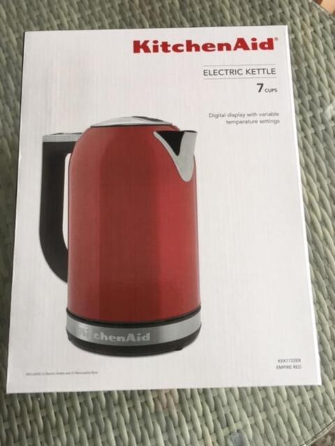 Brand New KitchenAid KEK1722ER 1.7-Liter Electric Kettle ~Red