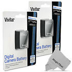 2 Pack Vivitar Battery for GoPro Hero3+ Hero3 / AHDBT-302 301 Replacement