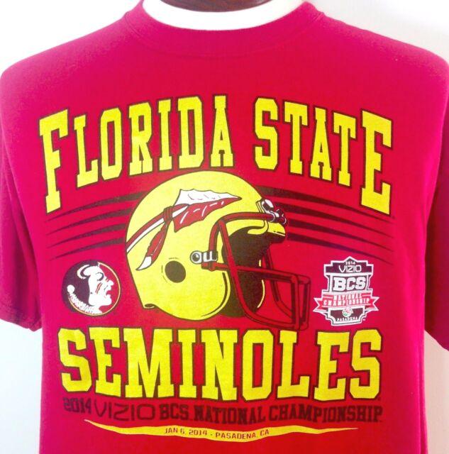 Florida State Seminoles T Shirt Large Mens 2014 BCS National Champions Garnet