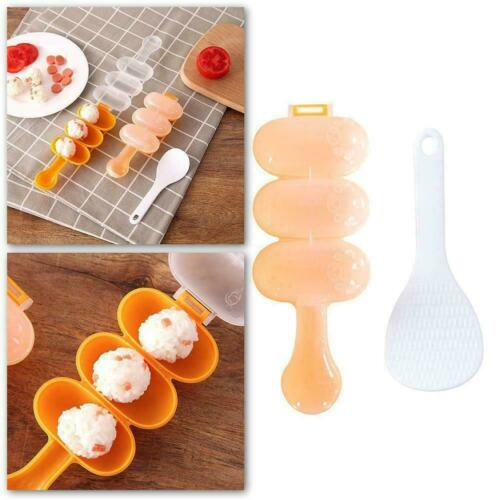 Rice Ball Mold Sushi Balls Maker Mould Spoon Kitchen Utensil Tool Cooking C9P9
