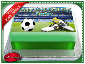 Swell Soccer Ball Field Edible Icing Image Cake Topper Birthday Party Funny Birthday Cards Online Aboleapandamsfinfo
