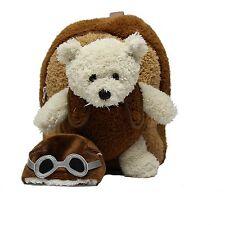 """Popatu """"Aviator Bear"""" Plush Mini Backpack - Ages 3 & Up - Unisex - PO-092"""