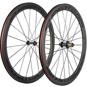 SUPERTEAM-700C-50mm-Clincher-Bike-Carbon-Road-Bicycle-Wheels-Carbon-Wheelset