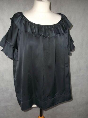 Top 40 Ruffle Size Stella 8 Black Uk Glossy 10 Mccartney Oversized wSqxt0X6x