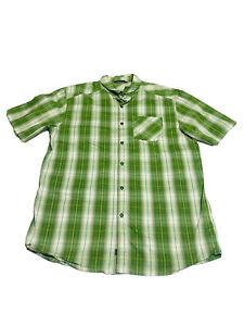 Arc'teryx Men's Size L Multicolored Plaid Short Sleeve Button Front Hiking Shirt