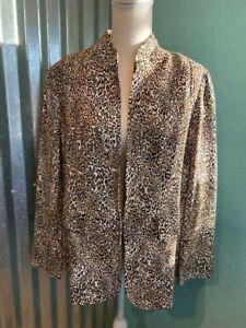 NWT Chico's Classic Ponte Animal Print Blazer, Size 2, $119