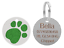 Personalised-Engraved-Round-Glitter-Paw-Print-Dog-Cat-Pet-ID-Tag-Small-Large thumbnail 4