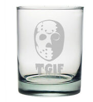 Tgif Double Old Fashioned Glasses Set Of 4 Cocktail Glasses Gift Friday The 13th