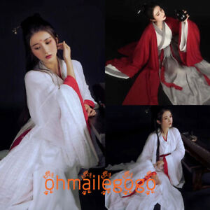 Women-039-s-Dress-3-Pcs-Tops-Inner-Skirt-Hanfu-Ancient-Costume-Chinese-Dress-Cosplay