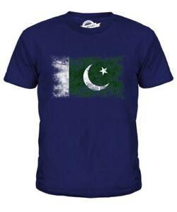 2f87b189 PAKISTAN DISTRESSED FLAG KIDS T-SHIRT TOP P?KIST?N FOOTBALL ...