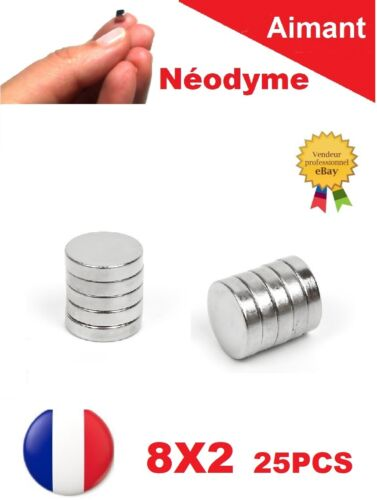 Magnet Scrapbooking Fimo Lot 25 Aimants Puissant Neodyme N35 8 X 2 mm : Photo