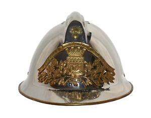 Veritable-casque-modele-1933-des-Sapeurs-Pompiers-de-PARIS-Le-vrai-casque-1933