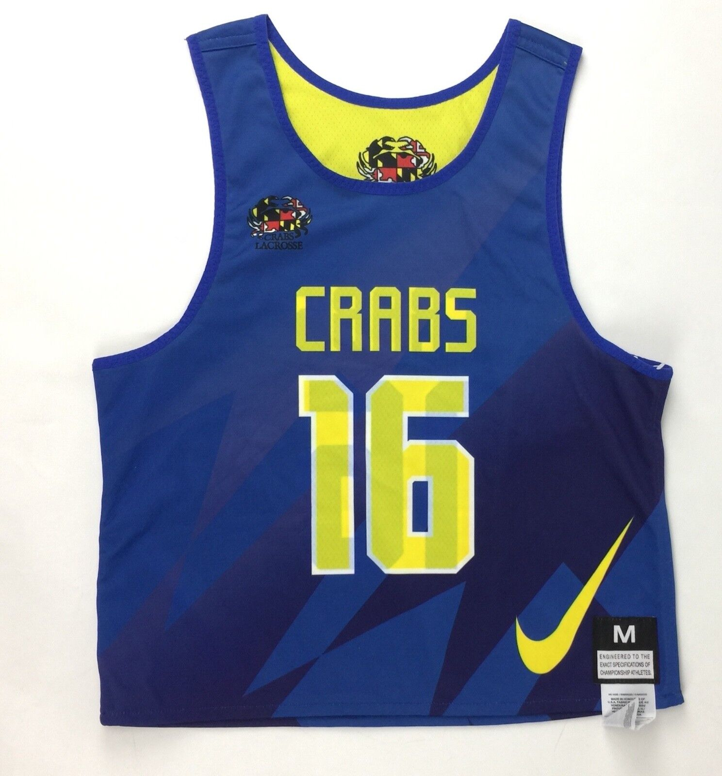Baltimore Crabs Lacrosse Club Nike Jersey Boys Med 2017