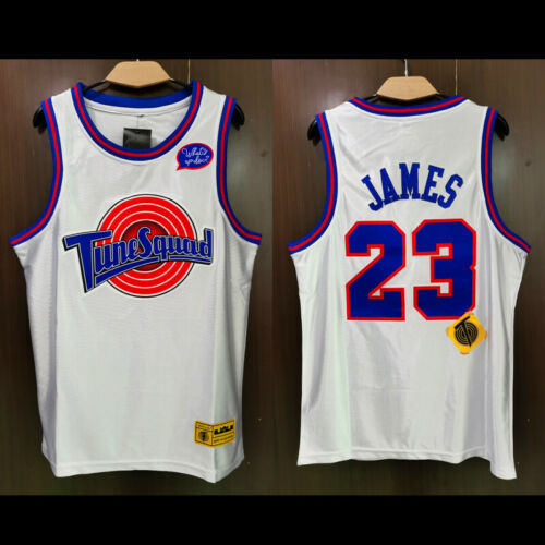 #23 LeBron James Space Jam Tune Squad Movie Jersey Space Jam 2 Custom Party Top