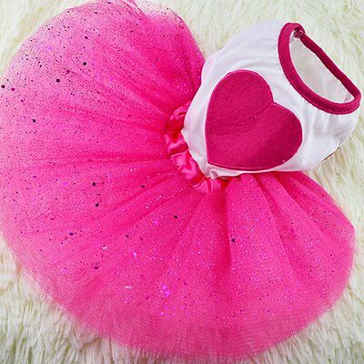 Cute Pet Puppy Dog Cat Lace Skirt Princess Tutu Dress Summer Clothes Apparel