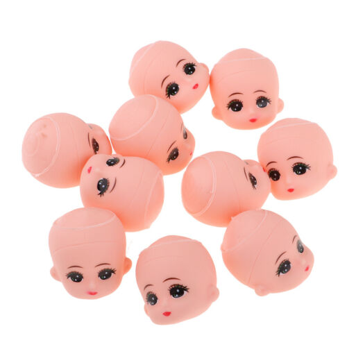 10 x Mini Baby Heads Mold For 5inch Bathing Doll Custom Making Body Parts