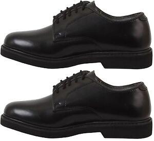 Soft Leather Black Uniform Shoes Mens