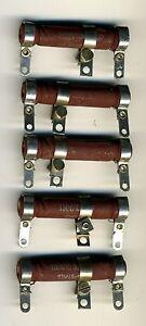 Vintage rare Bande de 25 grosses résistances carbone 150 ohms 5//7 watts 5/% NOS