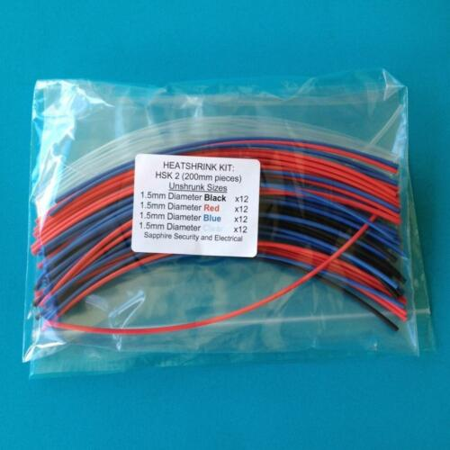 HSK 2 Heat Shrink Tubing 1.5 mm 4 Colours Heat Shrink Sleeve Wrap Tube Kit
