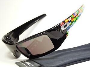 Oakley-Gascan-Black-Global-Flag-Print-Sonnenbrille-Fuel-Cell-Big-Taco-Canteen-XX