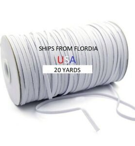 1 4 Inch Knit Soft White Elastic Band For Face Mask By Yard